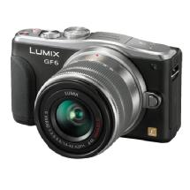 Panasonic Lumix DMC-GF6 Digital Camera with 14-42mm G Vario Lens (Black)