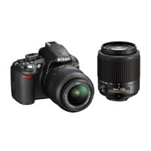 Nikon D3100 Digital SLR Camera With 18-55mm and 55-200mm DX Lenses