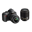 Nikon | D3100 Digital SLR Camera With 18-55mm and 55-200mm DX Lenses | 13284