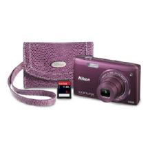 Nikon COOLPIX S5200 Digital Camera Kit (Plum)