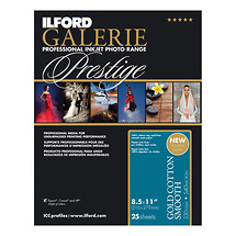 Ilford GALERIE Prestige Gold Cotton Photo Papers (8.5 x 11 in, 25 Sheets)