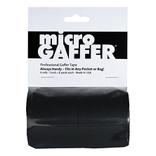 Microgaffer Tape 1 in x 8yd (4Pk) - Black Image 0