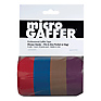Microgaffer Tape 1 in x 8yd (4Pk) - Red/Blue/Brown/Purple
