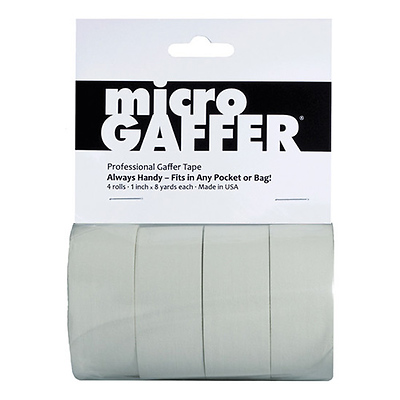 Microgaffer Tape 1 in x 8yd (4Pk) - White Image 0