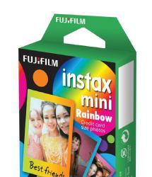 Fujifilm Instax Mini Picture Format Rainbow Instant Film (10 Shots)