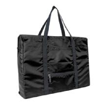 Travelocity Foldable Travel Tote Bag (Black)