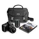 Nikon | D5100 Digital SLR Camera Kit with 18-55mm and 55-200mm Lenses | 13073