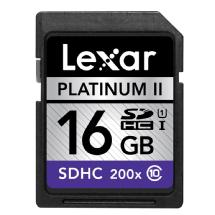 Lexar Media 16GB SDHC Memory Card Platinum II Class 10 UHS-I
