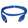 QVS | 3 Foot USB 3.0 Cable - A Male to B Male (Blue) | CC2219C03