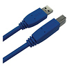 QVS | 6 Foot USB 3.0 Cable - A Male to B Male (Blue) | CC2219C06