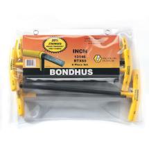 Bondhus Set 6 Balldriver T-Handles 5/32-3/8