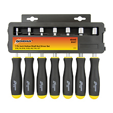 Set of 7 Hollow Shaft SAE Nutdrivers (Inch) Image 0