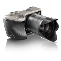 Hasselblad Lunar with 18-55mm Lens (Titanium Body with Black Leather Grip)