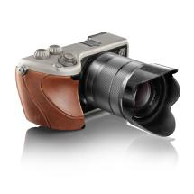 Hasselblad Lunar with 18-55mm Lens (Titanium Body with Brown Leather Grip)