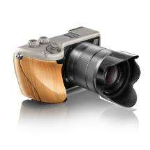Hasselblad Lunar with 18-55mm Lens (Titanium Body with Exotic Fine Grain Wood)