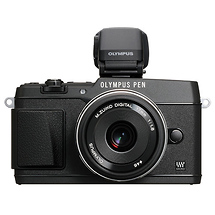 Olympus E-P5 PEN Mirrorless Digital Camera with 17mm f/1.8 Lens and VF-4 Viewfinder (Black)