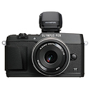 Olympus | E-P5 PEN Mirrorless Digital Camera with 17mm f/1.8 Lens (Black) | V204053BU000