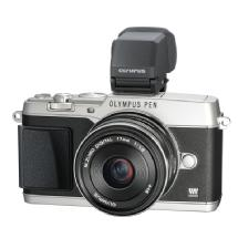 Olympus E-P5 PEN Mirrorless Digital Camera with 17mm f/1.8 Lens and VF-4 Viewfinder (Silver)