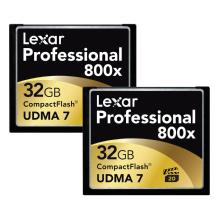 Lexar Media 32GB CompactFlash Memory Card Professional 800x (2-Pack)