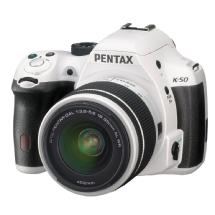 Pentax K-50 Digital Camera with 18-55mm Zoom Lens (White)