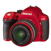 Pentax K-50 Digital Camera with 18-55mm Zoom Lens (Red)