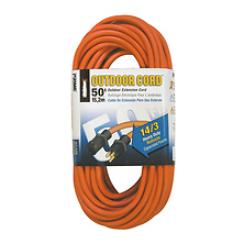 Heavy Duty Outdoor Extension Cords 50ft. 14/3 (Orange) Image 0