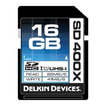 Delkin Devices 16GB SDHC 400X UHS-I Memory Card