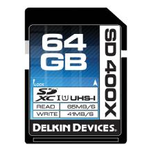 Delkin Devices 64GB SDXC Memory Card 400x UHS-I