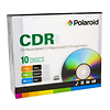 Polaroid | CD-R 700MB/80-Minute 52x Recordable Media Disc (10-Pack Slim Case) | 3186