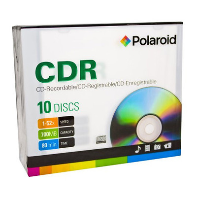 CD-R 700MB/80-Minute 52x Recordable Media Disc (10-Pack Slim Case) Image 0