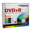 Polaroid | DVD+R 4.7GB/120-Minute 16x Recordable DVD Disc (5-Pack Slim Case) | 2801