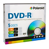 Polaroid | DVD-R 4.7GB/120-Minute 16x Recordable DVD Disc (5-Pack Slim Case) | 3956