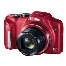 Canon PowerShot SX170 IS Digital Camera (Red)