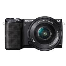 Sony Alpha NEX-5T Digital Camera with 16-50mm Lens (Black)
