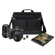 Nikon D7100 Digital SLR Camera with 18-140mm, 55-300mm Lenses and Accessory Bag Kit