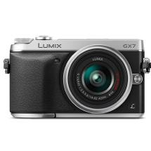 Panasonic Lumix DMC-GX7 Digital Camera with G Vario 14-42mm Lens (Silver)
