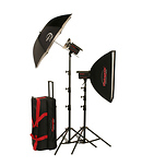 Photogenic | 1000 Watts 120V PowerLight Digital Travel Kit | PL2120K