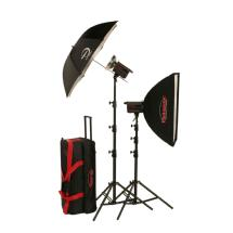 Photogenic 1,000W/s PowerLight Digital Travel Kit with PocketWizard (120V)