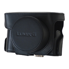 Leather Case for LUMIX GX7 Digital Camera with Compact Lens (Black) Image 0