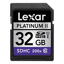 Lexar Media | Platinum II 200x 32GB SDHC UHS-I Flash Memory Card | LSD32GBBNL200B