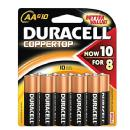 Duracell | AA 1.5v Alkaline Coppertop Batteries (10 Pack) | AA10PK