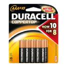 Duracell | AAA 1.5V Alkaline Coppertop Batteries (10 Pack) | AAA10PK