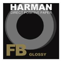 Harman Direct Positive Fiber Based (FB) Glossy Paper (4 x 5 inch., 25 Sheets)