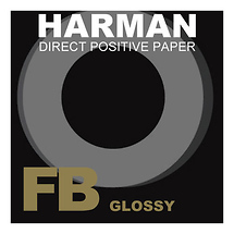 Harman Direct Positive Fiber Based (FB) Glossy Paper (8 x 10 inch., 25 Sheets)