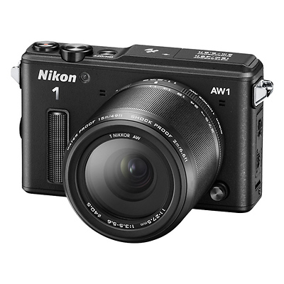 1 AW1 Mirrorless Digital Camera with 11-27.5mm and 10mm Lenes (Black) Image 0