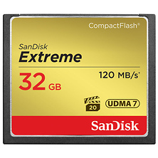 32GB Extreme Compact Flash Card (120MB/s) Image 0