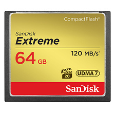 64GB Extreme Compact Flash Card (120MB/s) Image 0
