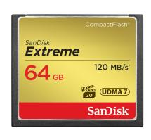 SanDisk 64GB Extreme Compact Flash Card (120MB/s)