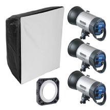 Hensel Integra 500 3-Light Kit with Chimera Softbox