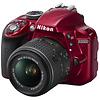 Nikon D3300 Digital SLR Camera with 18-55mm VR II Lens (Red)